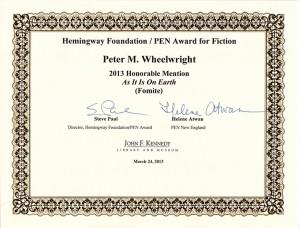 Hemingway Award sm